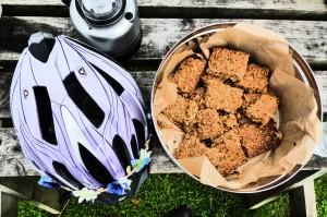 Bike Ride Gelmet and flap jacks